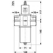 Водяной клапан-регулятор давления, WVFX 40