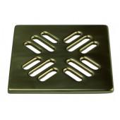 Решетка для сливных отверстий из латуни полированная 140х140мм