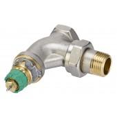 Радиаторные клапаны, RA-DV, Динамический (не зависит от давления), Ду 15, Угловой, NF