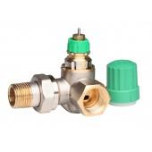 Радиаторные клапаны, RA-DV, Динамический (не зависит от давления), Ду 15, Двойной угловой правый