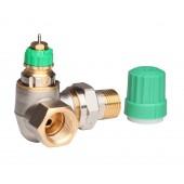 Радиаторные клапаны, RA-DV, Динамический (не зависит от давления), Ду 15, Двойной угловой левый