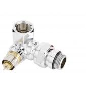 Трехосевой клапан RA-NCX 15 для подключения справа хромированный