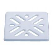 Решетка для сливных отверстий из высококачественной стали белая 94х94мм