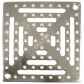 Решетка для сливного отверстия из высококачественной стали (V4A) 138х138мм, препятствующая скольжению и прикрепленная болтами