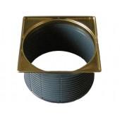 Надставной элемент d 146 мм, рамка из нержавеющей стали с PVD-покрытием цвета латунь, 145х145 мм