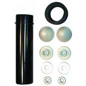HL226 Крепежный комплект с промывной трубой и рез. манжетой для консольного унитаза