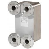 Паяные теплообменники, XB51H-1, Медь, Количество пластин: 70, 25 bar, Ду 50