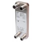 Паяные теплообменники, XB20-1, Медь, Количество пластин: 10, 25 bar, G 1