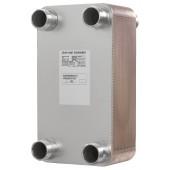 Паяные теплообменники, XB51L-2, Медь, Количество пластин: 80, 25 bar, G 2