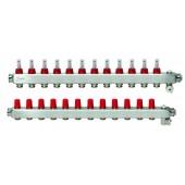 Коллекторы SSM-12F с расходомерами 12 контуров