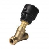 Клапан с угловым седлом и внешним управлением, AV210A, G, 3/4, PTFE, НЗ