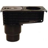 HL660/2 Дворовый дождепреемник (вертик. выпуск), наборные кольца под трубы DN45, 90, 100, 110 мм